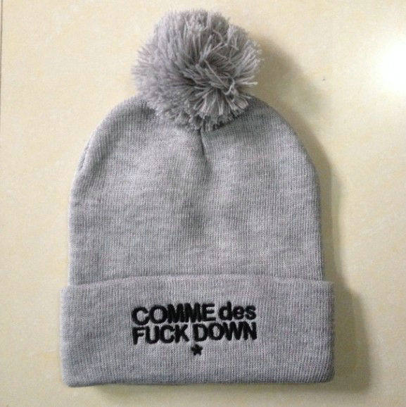 COMME Des FUCKDOWN Grey Beanie SF