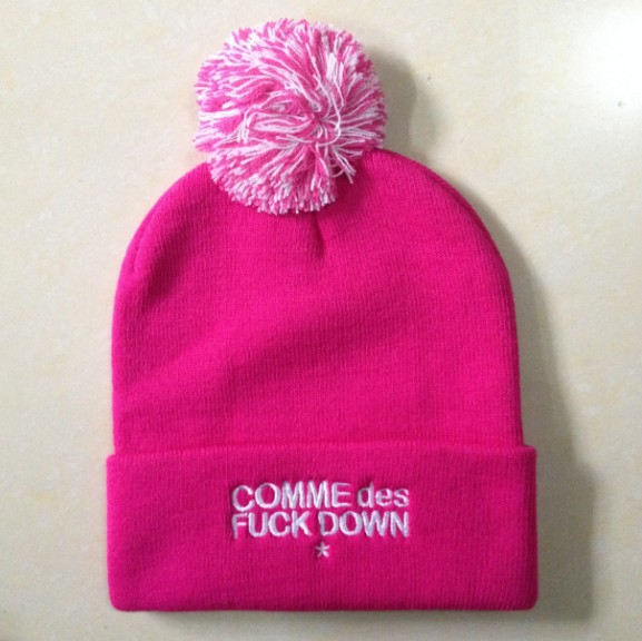 COMME Des FUCKDOWN Pink Beanie SF