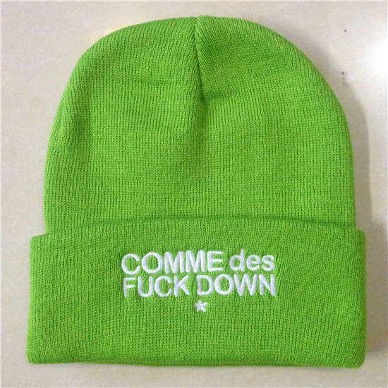 COMME Des FUCKDOWN Green Beanie SF