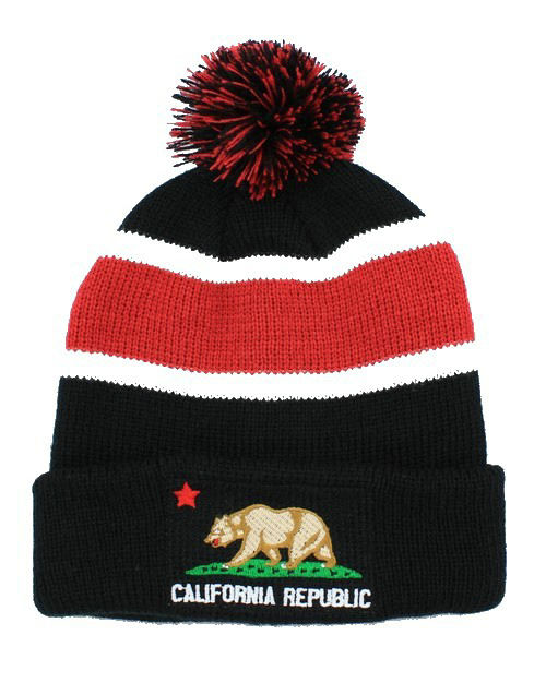 California republic Beanie Black 1 JT