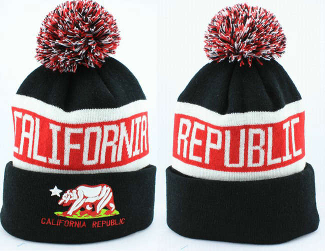 California republic Beanie Black 2 JT
