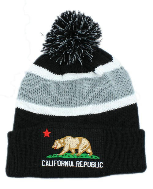 California republic Beanie Black JT