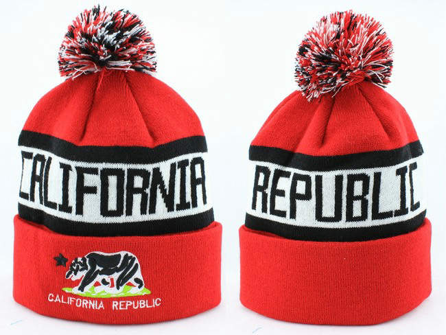 California republic Beanie Red JT