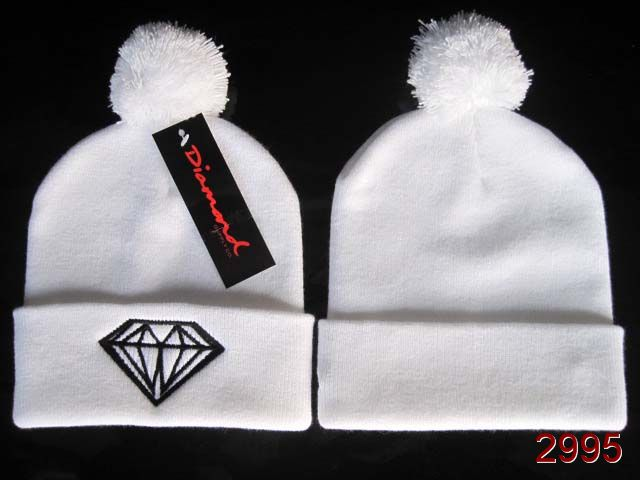 Diamond Beanie White SG
