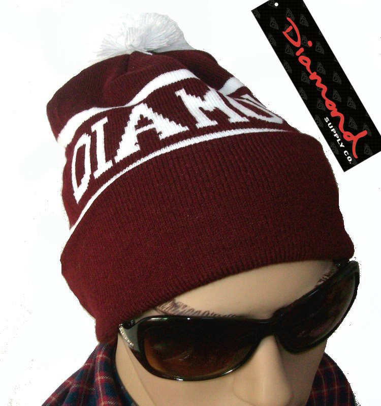 Diamond Supply CO Beanie Red JT