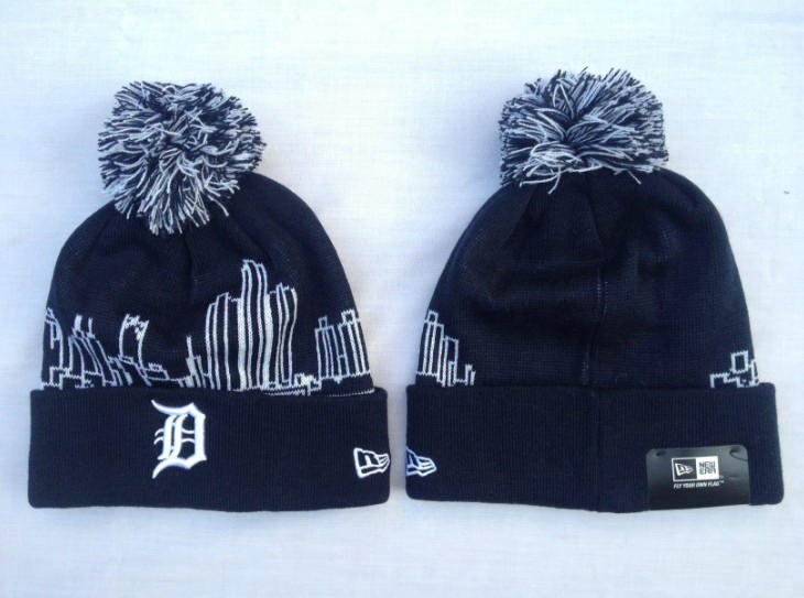 MLB Detroit Tigers Black Beanie SF
