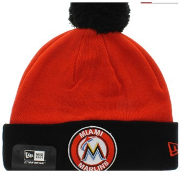 MLB Miami Marlins Orange Beanie JT