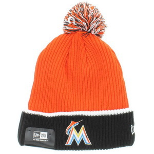 MLB Miami Marlins Orange Beanie XDF
