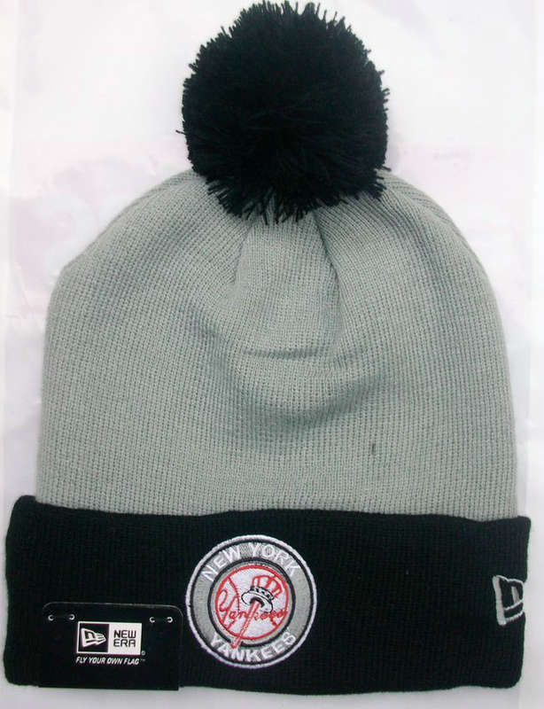 MLB New York Yankees Beanie Grey JT