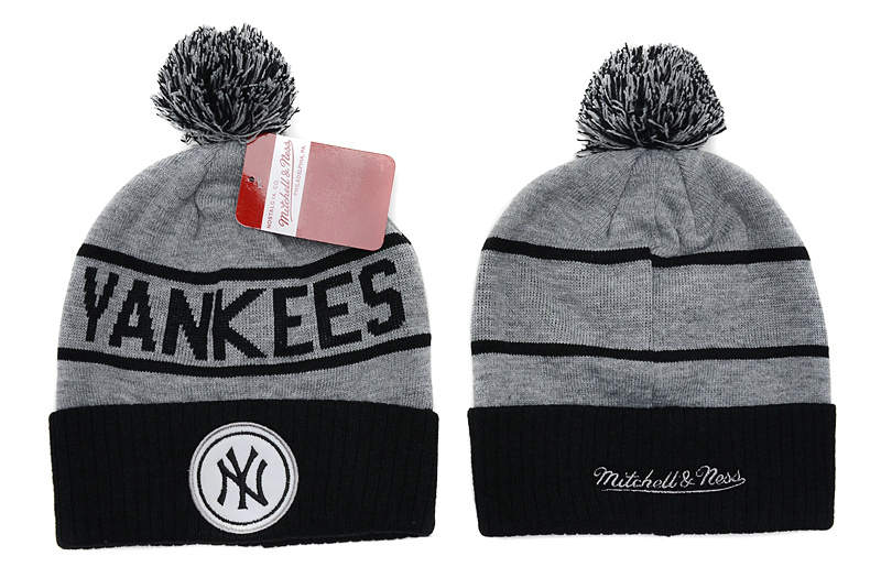MLB New York Yankees Beanie Grey SD