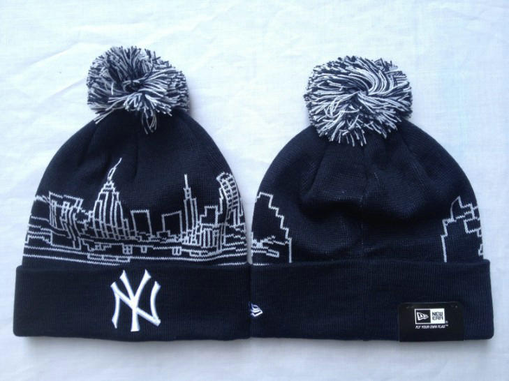 MLB New York Yankees Black Beanie 1 SF