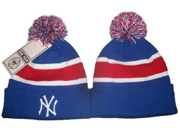 MLB New York Yankees Blue Beanie JT