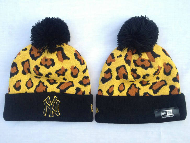 MLB New York Yankees Yellow Beanie SF