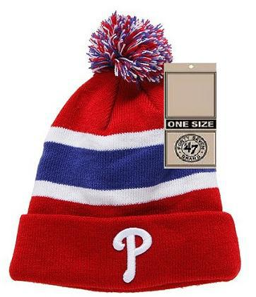MLB Philadelphia Phillies Red Beanie 1 JT