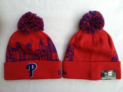 MLB Philadelphia Phillies Red Beanie SF-O