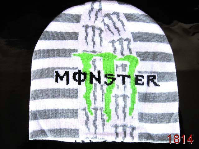 Monster Energy Beanie White 1 SG