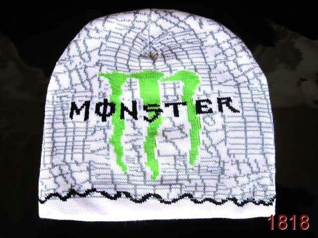 Monster Energy Beanie White 2 SG