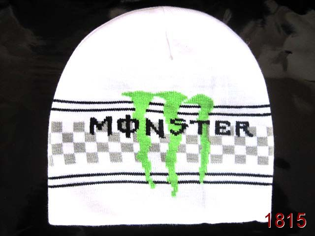 Monster Energy Beanie White 3 SG