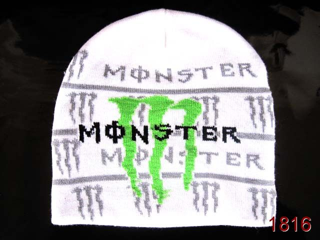 Monster Energy Beanie White 4 SG