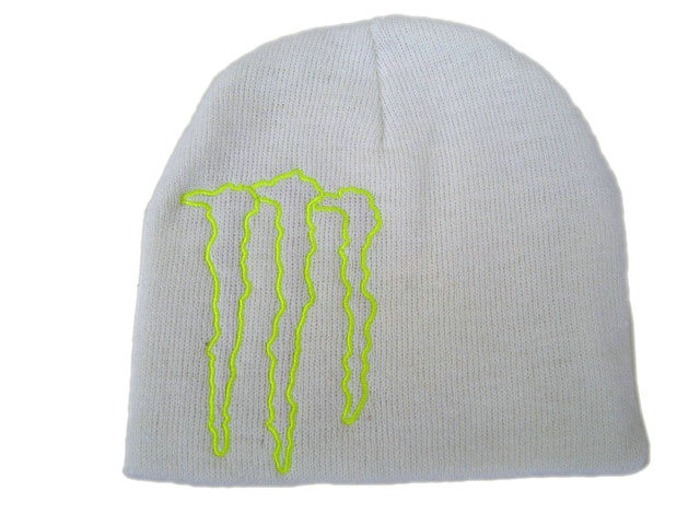 Monster Energy Beanie White DF
