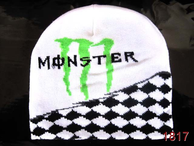 Monster Energy Beanie White SG