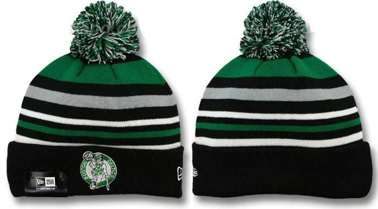 Boston Celtics Stripe Beanie DF