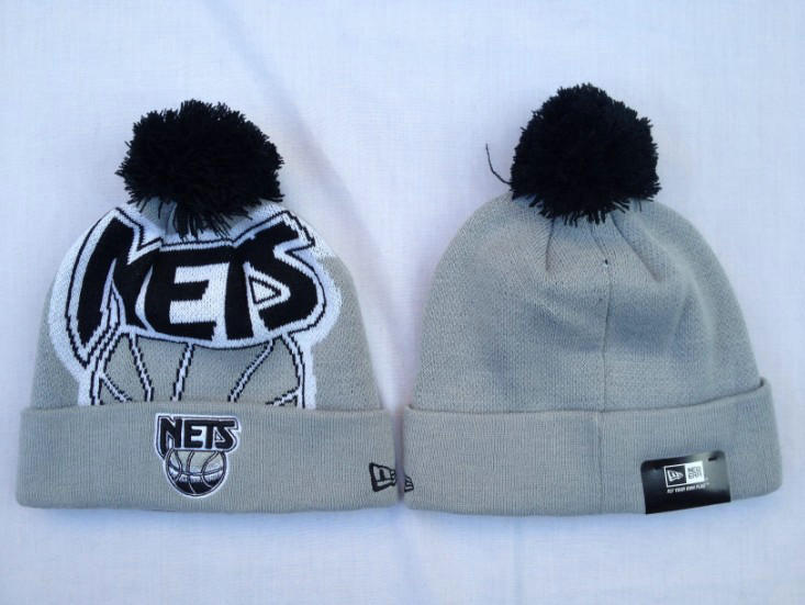 NBA Brooklyn Nets Grey Beanie SF