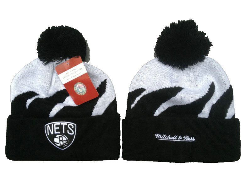 NBA Brooklyn Nets Mitchell & Ness Shark Tooth Beanie XDF