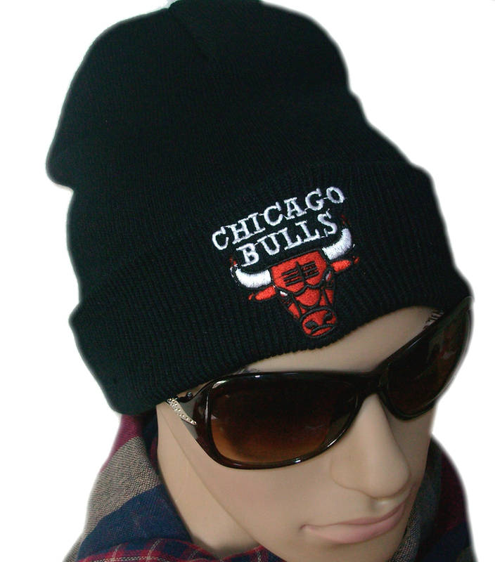 NBA Chicago Bulls Beanie Black 2 JT