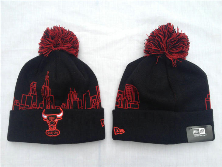 NBA Chicago Bulls Black Beanie SF