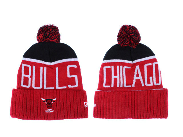NBA Chicago Bulls Red Beanie LX