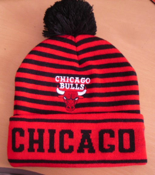 NBA Chicago Bulls Stripe Beanie SD