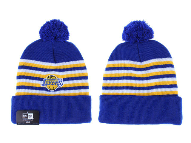 NBA Los Angeles Lakers Blue Beanie 1 LX