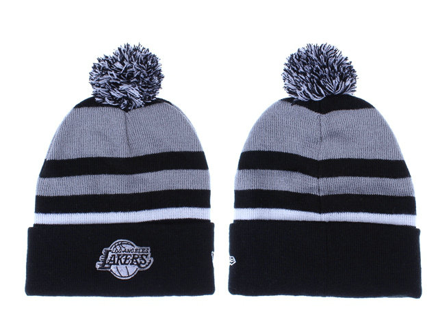 NBA Los Angeles Lakers Grey Beanie 1 LX