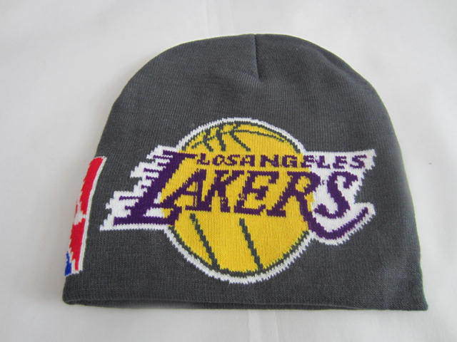 NBA Los Angeles Lakers Grey Beanie LX