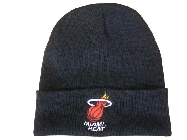 NBA Miami Heat Beanie Black 2 DF