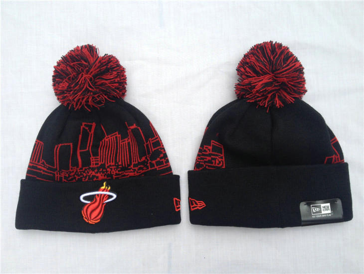 NBA Miami Heat Black Beanie SF