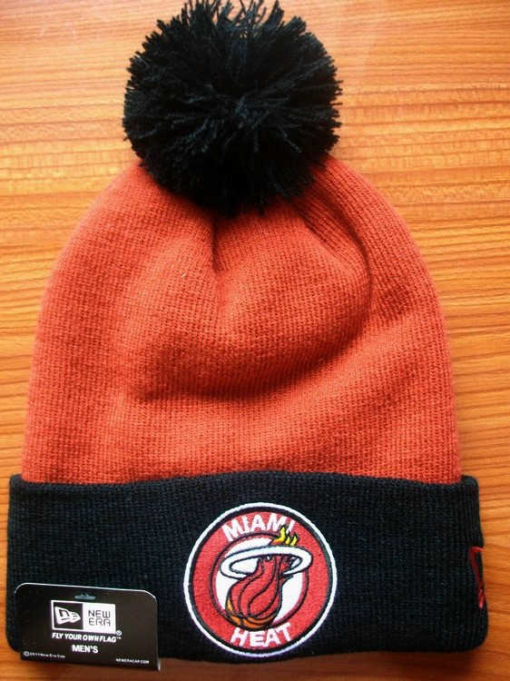 NBA Miami Heat Orange Beanie JT