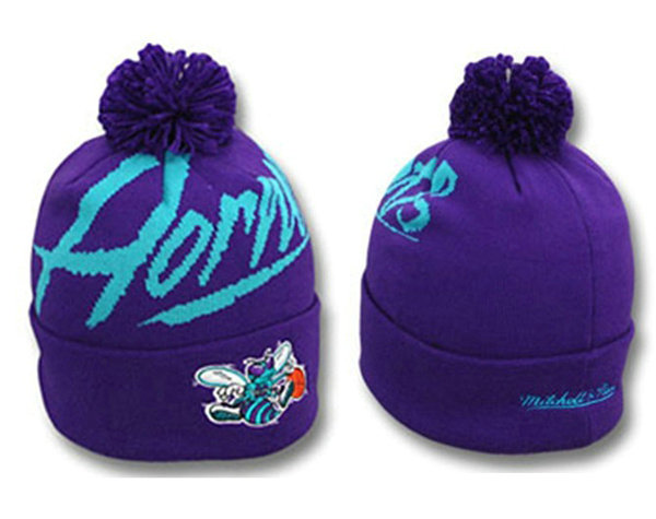 NBA New Orleans Hornets Beanie Purple SJ