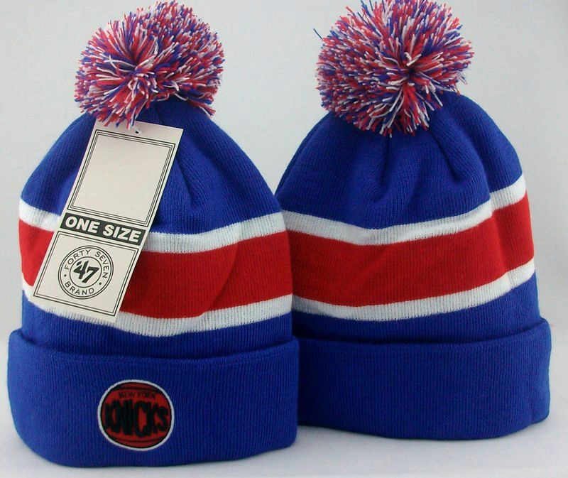NBA New York Knicks Blue Beanie JT