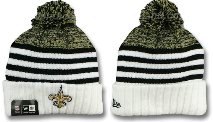 New Orleans Saints Stripe Beanie DF