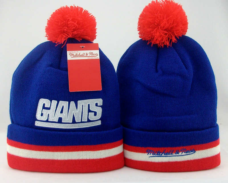 NFL New York Giants Blue Beanie 1 JT