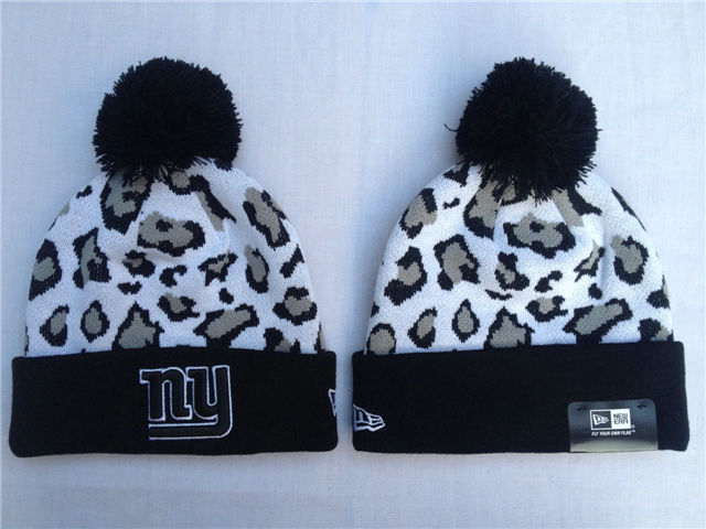 NFL New York Giants White Beanie SF