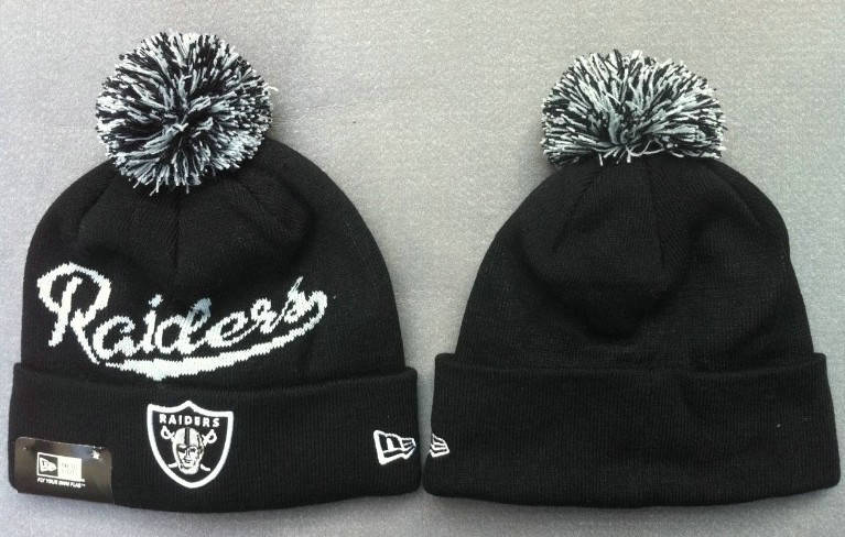 NFL Oakland Raiders Beanie Black 2 JT
