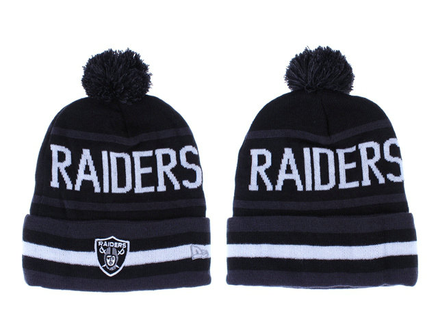 NFL Oakland Raiders Black Beanie LX