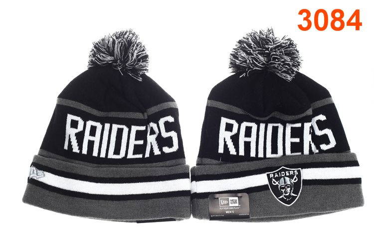 NFL Oakland Raiders Black Beanie P-T