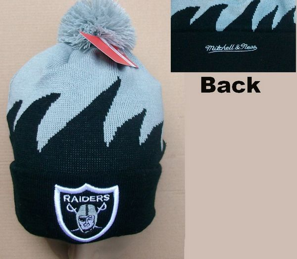 NFL Oakland Raiders Mitchell&Ness Shark tooth Beanie JT