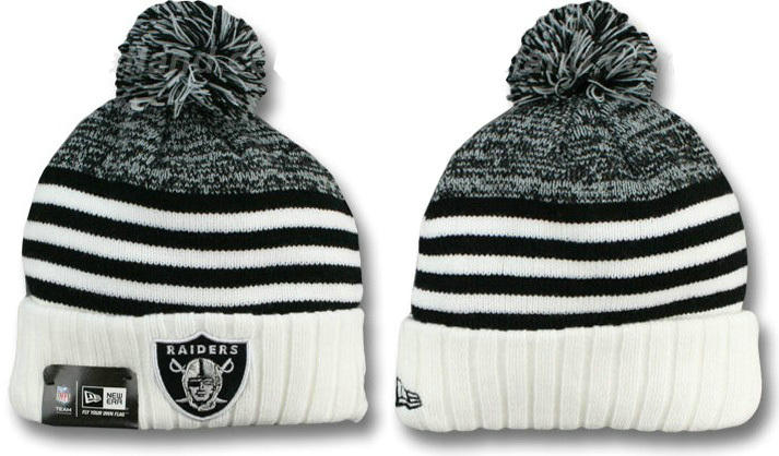 NFL Oakland Raiders Stripe Beanie DF