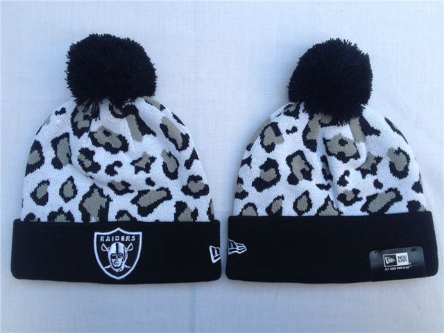 NFL Oakland Raiders White Beanie SF