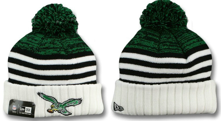 Philadelphia Eagles Stripe Beanie DF